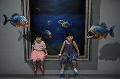 Awesome Places, Pics And Articles Forever: Spectacular 3D paintings at the 2012 Magic Art Special Exhibition, China
