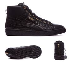 89d62235b537c9 Puma Womens Basket Mid Exotic Trainer