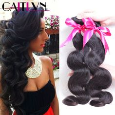 Caitlyn Hair Products 8A Mink Brazilian Virgin Hair Body Wave, 3.5 oz/bundle, 4 Bundles Brazilian Body Wave Human Hair Weave