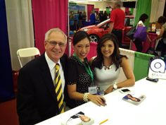 """@ABC30 Action News anchors Doug Collins, Christine Park and Margot Kim at the ABC30 booth during the Central California Women's Conference.  We had a great time meeting everyone.  Thanks for stopping by and saying """"hi."""""""