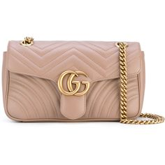 Gucci GG Marmont matelassé shoulder bag ($1,890) ❤ liked on Polyvore featuring bags, handbags, shoulder bags, gucci shoulder bag, beige handbags, structured handbags, genuine leather shoulder bag and top handle handbags