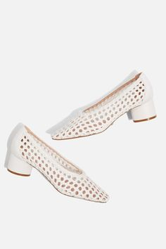 JTOPSHOP | £46 | Joice white Woven Mid Heel Shoes