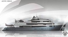 Interior proposal of Studio Haak for 74m explorer yacht AUSTIN ...
