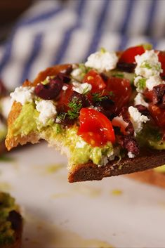Greek Avocado Toast 105 ways to eat tomatoes Avocado Toast, Avocado Breakfast, Breakfast Recipes, Breakfast Ideas, Breakfast Time, Easy Tomato Recipes, Avocado Recipes, Avocado Ideas, Avocado Dishes