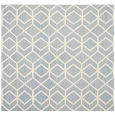 Hand-woven Moroccan Dhurrie Blue Wool Rug | Overstock.com