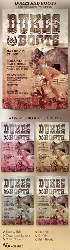https://www.behance.net/gallery/18306703/Dukes-and-Boots-Country-Flyer-Template
