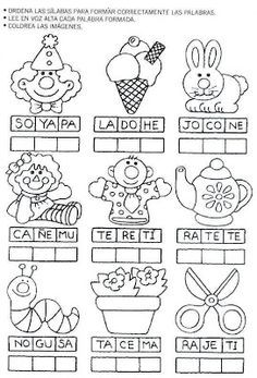 Láminas para Colorear - Coloring Pages: Actividades para . Bilingual Classroom, Bilingual Education, Spanish Classroom, Kids Education, Elementary Spanish, Teaching Spanish, Preschool Spanish, Spanish Vocabulary, Spanish Activities