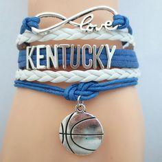 Infinity Love Kentucky Basketball Bracelet BOGO