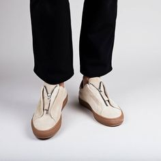 AXEL ARIGATO - Clean 90 Zip Sneaker Beige Suede Leather