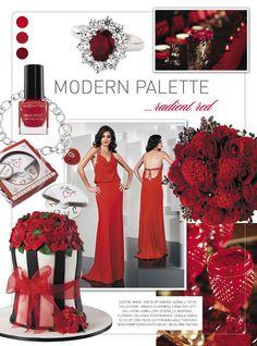 Red #wedding inspiration from Modern Wedding