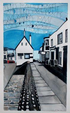 2014 originals – part 1 Wildlife Paintings, Landscape Paintings, Sam Cannon, Lyme Regis, Tree Illustration, Art For Art Sake, Typography Art, Watercolor And Ink, Beautiful Paintings