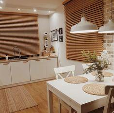 Dream Home Design, My Dream Home, House Design, Kitchen Interior, Kitchen Design, Boho Kitchen, Nordic Home, Wood Blinds, One Bedroom Apartment