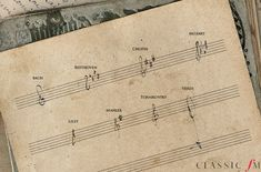 What did the great composers' handwriting look like? - Classic FM slideshow