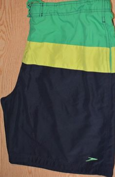 f72bc62684 Speedo Men's 2xl Board Shorts 2 POCKETS GREEN YELLOW AND BLUE #fashion  #clothing #shoes #accessories #mensclothing #swimwear (ebay link)