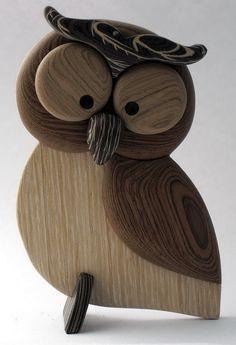 Simple original modern wood animal desktop ornam - Wood How to Crafts Wooden Crafts, Diy Wood Projects, Wood Owls, Wood Animal, Owl Crafts, Wood Creations, Wooden Art, Wood Sculpture, Woodworking Crafts