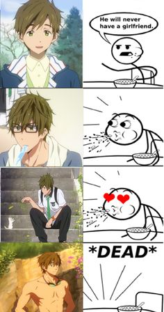 Hahaha!! I know cereal guy...I know! Makoto kun hontoni iro otoko!! Mh mh!lol #Free!