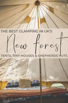 Looking for places to stay in New Forest, England? We've found some unique Airbnbs that you can stay in, from glamping tents, to shepherds huts and tiny houses. Whether you want to be near Hampshire, Lymington or Brokenhurst, there are plenty of accommodation options for you to choose from! | #unitedkingdom #europe Glamping Tents, Luxury Glamping, New Forest England, Outdoor Picnic Tables, Outdoor Cooking Area, Forest Cottage, Shepherds Hut, Van Living, Family Holiday
