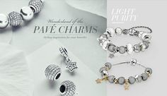 Wonderland of the pavé charms. Get styling inspiration for your bracelet in the winter edition of the PANDORA Magazine.