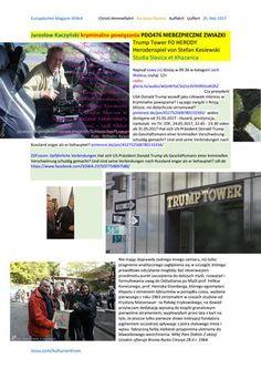 Jaroslaw kaczynski kryminalne powiazania pdo476 niebezpieczne zwiazki trump tower fo herody herodens  https://gloria.tv/audio/wGoWYyCSnZcn3VXhR9JzoKGhZ  Jaroslaw Kaczynski kryminalne powiazania PDO476 NIEBEZPIECZNE ZWIAZKI Trump Tower FO HERODY Herodenspiel von Stefan Kosiewski Studia Slavica et Khazarica…