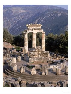 There are no more oracles in Delphi, but you can still see Sybil rock, where the Sybil delivered her prophesies as well as the ruins of the treasury of Athens and a massive amphitheater.