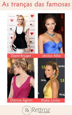Procurando inspiração de penteados para seus cabelos? Fique de olho nas tranças das celebridades!