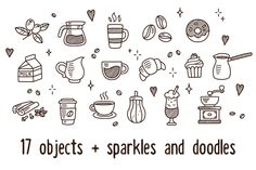 Vector coffee doodles by Irina Mir on Creative Market