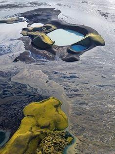 Craters in River Skaftá, Iceland