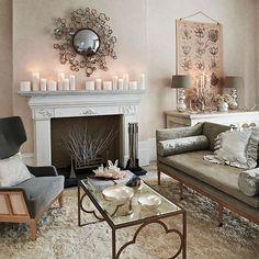 Soft grey and cream living room | Living room decorating | Homes and Gardens | Housetohome.co.uk
