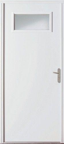 Porte acier porte entree bel 39 m contemporaine poignee rosace couleur argent grand vitrage for Isolation thermique porte entree