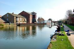 FISHING ON THE CANAL. by ronsaunders47, via Flickr
