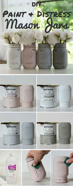 diy paint and distress mason jars industry standar