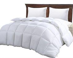 King Comforter Duvet Insert White - Hypoallergenic Plush Siliconized Fiberfill Box Stitched Down Alternative Comforter Protects Against Dust Mites and Allergens - By Utopia Bedding