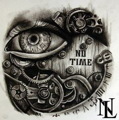 #steampunk eye clock