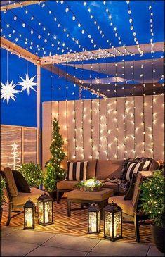 Amazing Small Patio Ideas on A Budget patio designs budget Outdoor Decor, Backyard Lighting, Small Backyard, Small Patio Design, Patio Design, Diy Patio, Outdoor Patio Decor, Apartment Patio