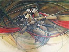 Buy Paintings Online by Artist Manoj Das - Jeevan Tarang - CE102459
