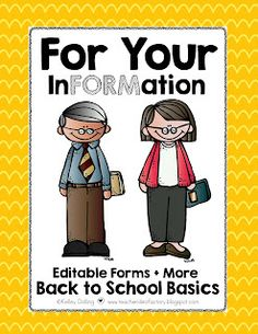 BACK TO SCHOOL BASICS - FORMS   LETTERS   CHECKLISTS   MORE