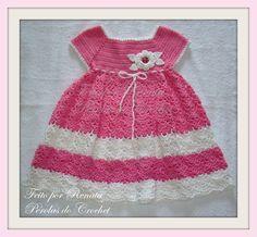 * Pérolas do Crochet: Vestido em crochet infantil