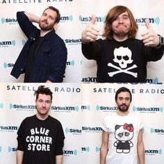 Dan Smith of #bastille sporting #bluecornerstore at a Setellite Radio session. And also Kyle's wonderful shirt.