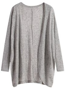 Long Sleeve Loose Grey Cardigan- Have this