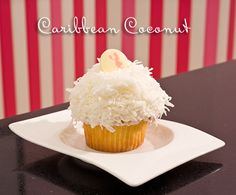 Casey's Cupcakes Caribbean Coconut. #caseyscupcakes www.caseyscupcakes.com