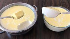 Zdravý a extra hustý domáci jogurt na celý týždeň: Blesková príprava, žiadne konzervanty ani éčka! Fondue, Ale, Pudding, Cheese, Ethnic Recipes, Desserts, Youtube, Tailgate Desserts, Dessert