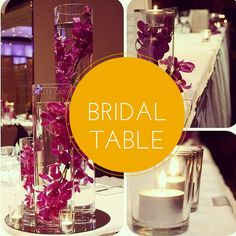 bridal table Bridal Table, Sweetheart Table, Floral Wall, Candles, Table Decorations, Home Decor, Decoration Home, Flower Wall, Room Decor