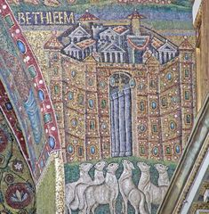 5th century mosaic in the triumphal arch of Santa Maria Maggiore, Rome
