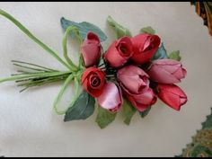 Листочки для цветов канзаши / 2 часть / Green Leaf for Flowers Fabric - YouTube