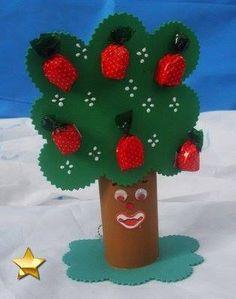 Árvore - brinde para aula Frutos do Espírito