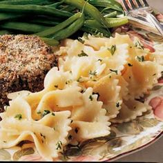 Parmesan Bow Ties...fast and easy side-dish with only 4 ingredients!!  My boys always ask for this...