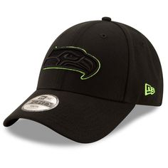 Youth Seattle Seahawks New Era Black Momentum 9FORTY Adjustable Hat 7663c60d03a8