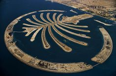 Isla artificial de Palm Jumeirah. Dubai, Emiratos Arabes Unidos.