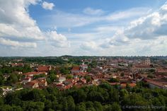 Vilnius Lithuania  Underrated and often overshadowed by neighbouring Baltic capitals Tallinn and Riga Vilnius is a very pleasant and manageable city. This photo was taken from Gediminas Hill which provides a great view of the Old Town below. #vilnius #lithuania #travel #baltics #thebaltics