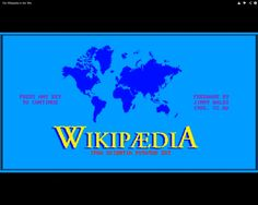 Así sería Wikipedia en 1980